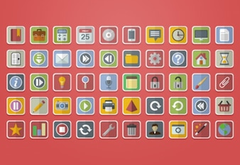 Common icons used in apps and web