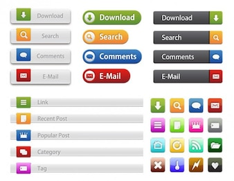 Common website Buttons & Icons