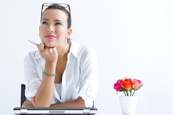 Communication cheerful lifestyle white working