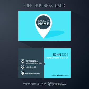 Company Geometric Visit Card Template