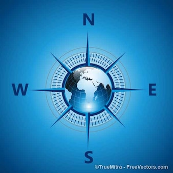 Compass directions world
