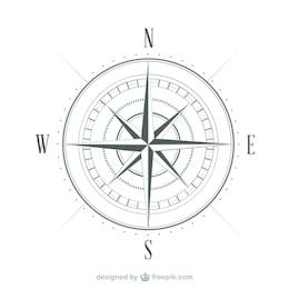 Compass sketch vector
