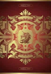 Complex unicorn pattern background