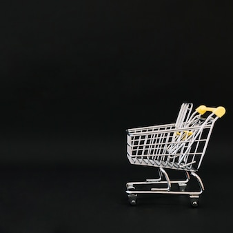 Composition for black friday with cart and space