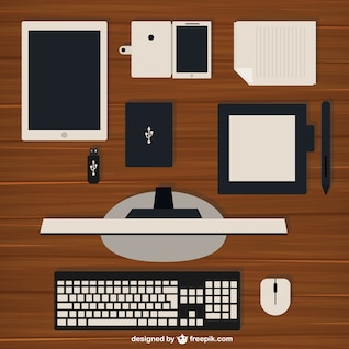 Computer and other devices illustration