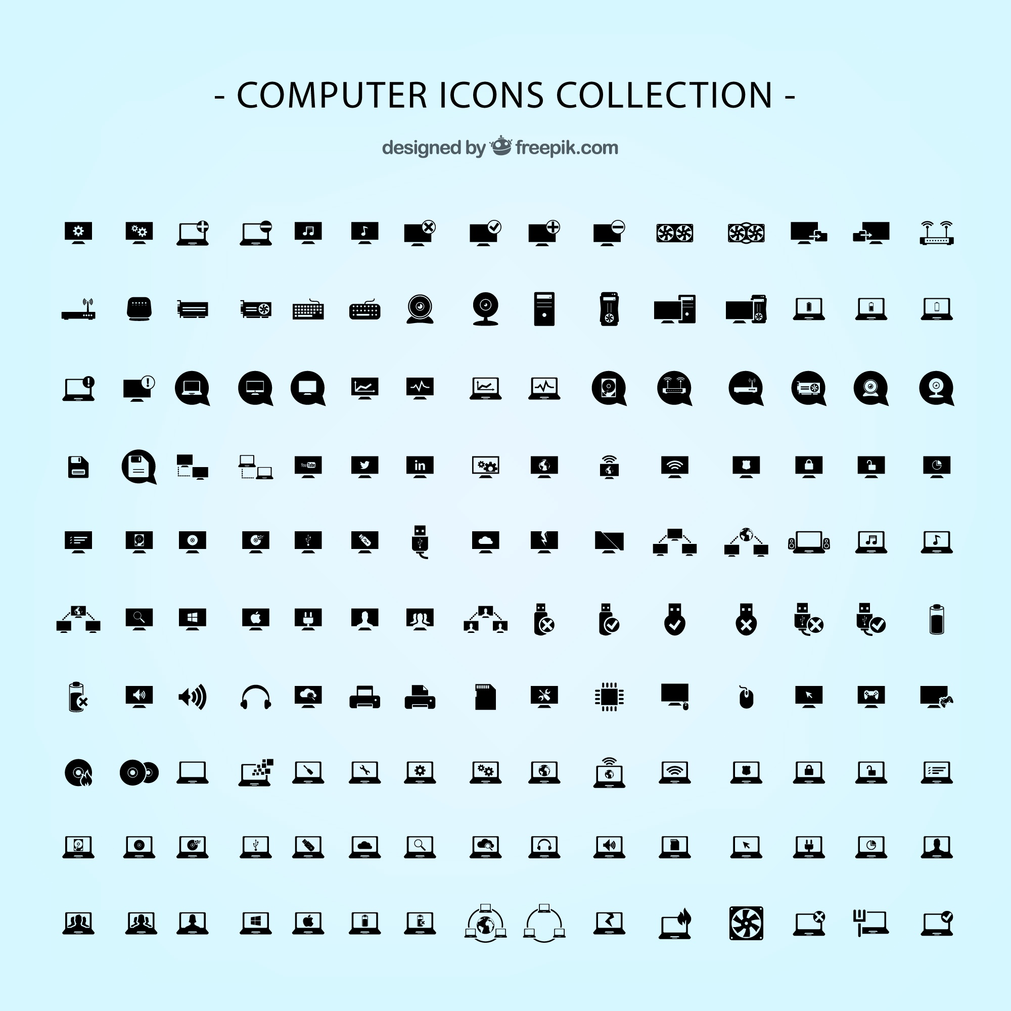 Computer icons vector pack