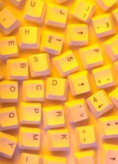 Computer keys  abstract