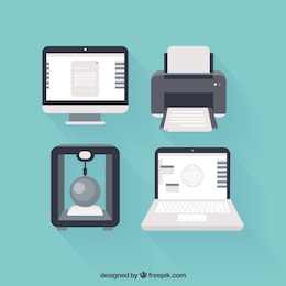 Computers and printers icons