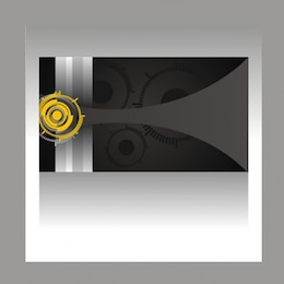 concentric circles curves and stripes card