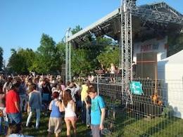 concert crowd  outdoors