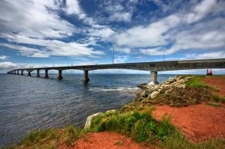 confederation bridge   hdr  ocean