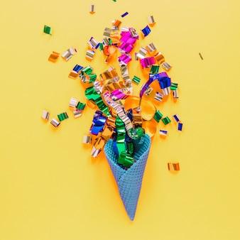 Confetti in waffle cone