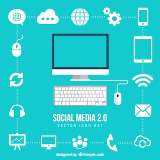 Connection icons set