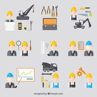 Construction engineering icons