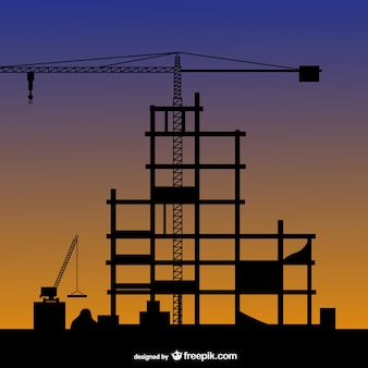 Construction silhouette vector