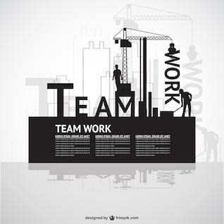 Construction team work template