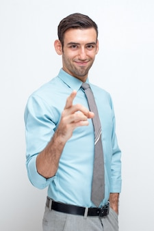 Content Attractive Business Man Choosing You