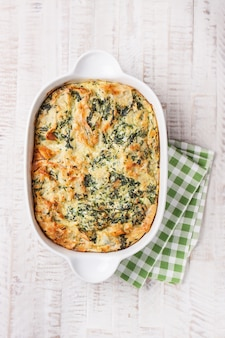 Cooked vegetable cake