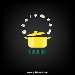 Cooking pot vector free