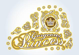 Cool Princess graphics vector design elements
