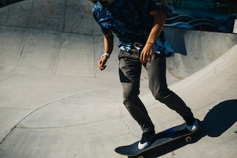 Cool skater in action