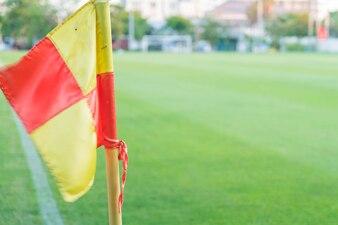 Corner flag on an soccer field