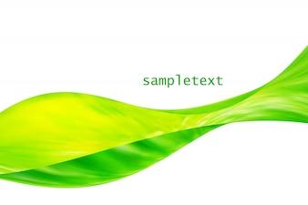Corporate card in green tones