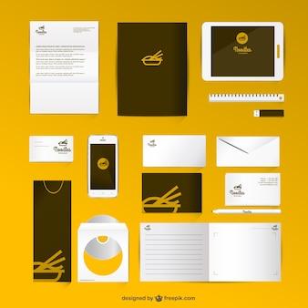 Corporate identity set mock-up style