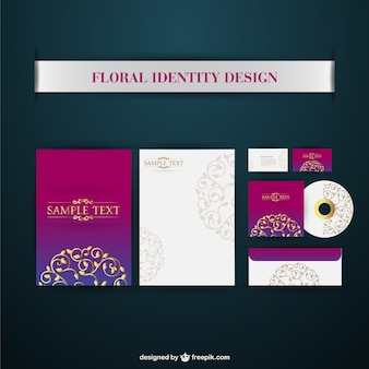 Corporate identity vector elements