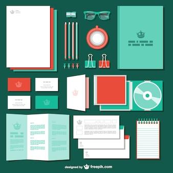 Corporate identity vector templates
