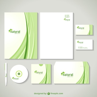 corporate image design in green with curves