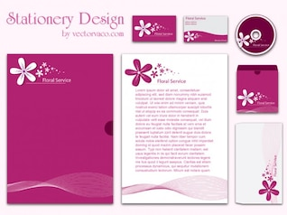 Corporate Pink Stationery Designs