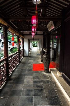 Corridor of a chinese building