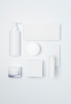 Cosmetics health blanco belleza label