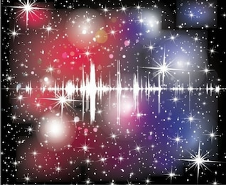 cosmos sound wave abstract vector