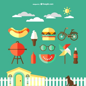 Countryside travel icons vector