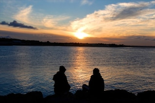 Couple and the sunset
