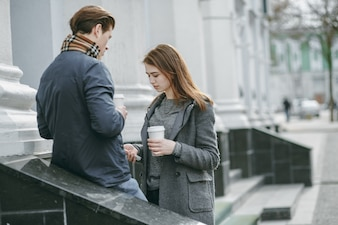 Couple in city