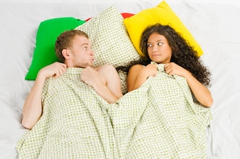 Couple trapped at the bedroom