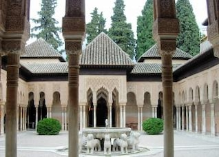 court of the lions  alhambra de granada