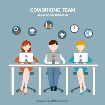 Coworking team