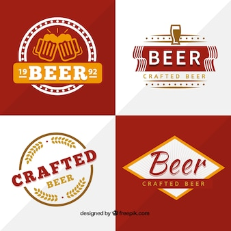 Crafted beer badges