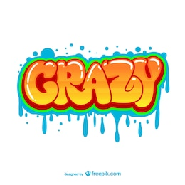 Crazy graffiti vector
