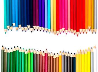 色鉛筆のクリエイティブ背景