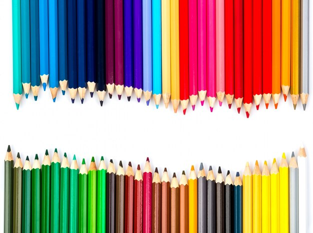 creative background with colored pencils