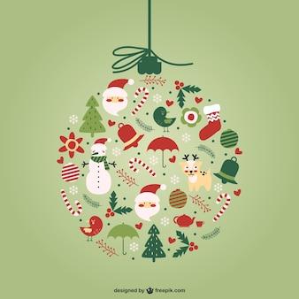 Creative Christmas ball vector