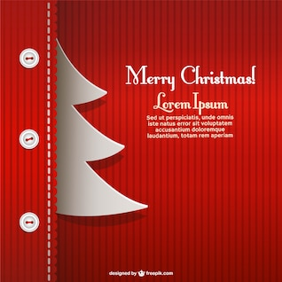Creative Christmas card template