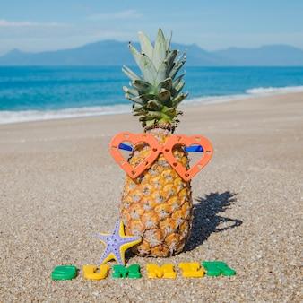 Creative composition on sand