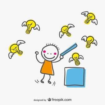 Creative cute vector character design