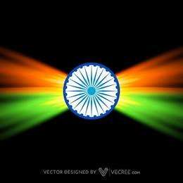 Creative dark indian flag